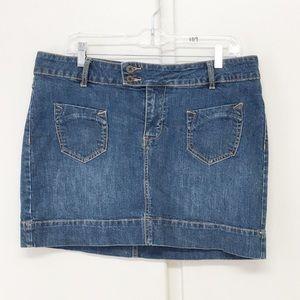 Route 66 Dark Denim Mini Skirt Size 11/12